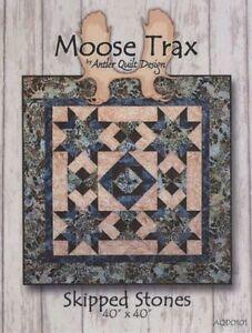 Quilt Pattern ~ MOOSE TRAX - SKIPPED STONES ~ by Antler Quilt ... : antler quilt design - Adamdwight.com
