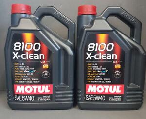 2-x-5-Litro-Motul-8100-5w40-X-CLEAN-C3-totalmente-sintetico-Cinta-de-llaves