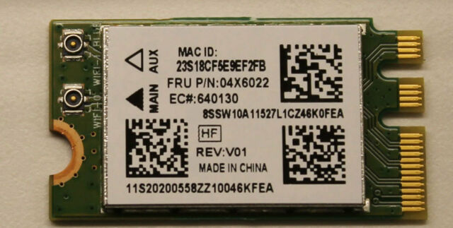 Bluetooth Module QCNFA324  Qualcomm Atheros  WiFi