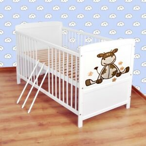 Babybett-Kinderbett-Juniorbett-umbaubar-120x60-Weiss-nr-2