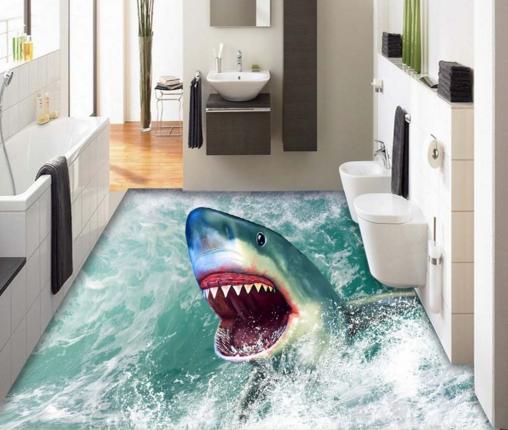 3D Shark Animal 704 Floor WallPaper Murals Wall Print Decal AJ WALL CA Carly