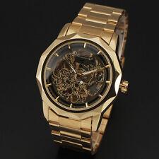 reloj esqueleto de acero de lujo automático mecánico de pulsera para hombres