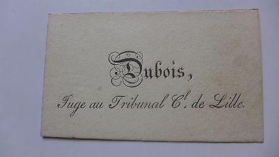 Carte De Visite Mr DUBOIS Tribunal LILLE