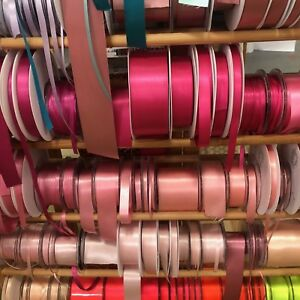 Berisfords-Double-Satin-Ribbon-35-Shades-7-Widths-Free-Postage-Cut-To-Order