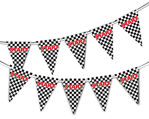 Start-Line-Racing-Checkered-Pattern-Bunting-Banner-15-flags-by-PARTY-DECOR