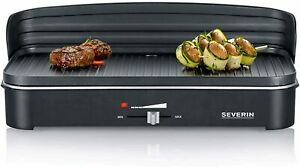Severin-Table-Grill-Electric-Grill-Electric-Grill-2200-Watt-49-5x24cm-Black-Controller