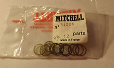 1 PKG OF 12 Mitchell 300 301 FISHING REEL SHIMS HEAD TO HOUSING NOS 81024 .20
