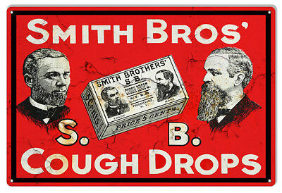 1901 Glyco-Heroin for Cough Vintage Look Reproduction Metal Sign