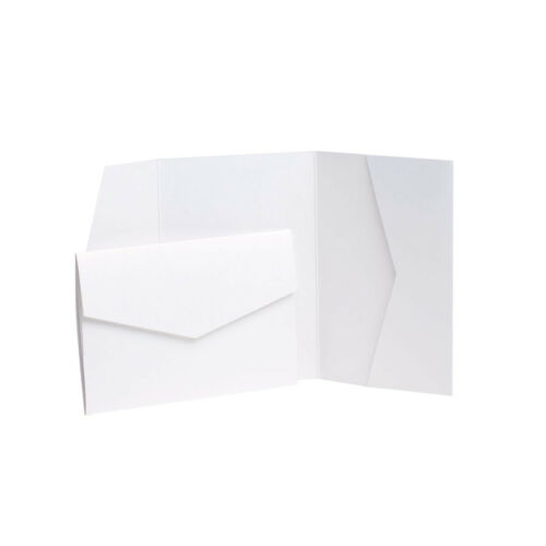 Pocket Weddings Ice Gold Pearlescent Wedding Card Invite with envelopes
