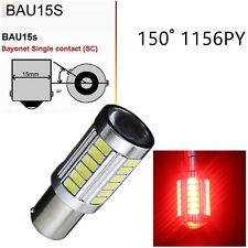10x Red 1156 BAU15S PY21W 150° 33 LED turn signal DRL Light Bulb 33SMD Lamp 5630