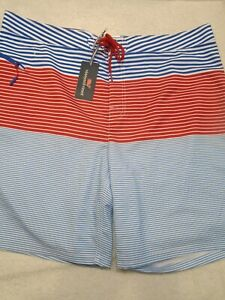 vineyard-vines-Board-Shorts-Whale-Harbor-Stripe-Pattern-Swim-Trunk-NWT-40-89-50