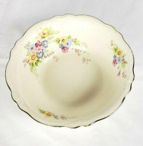 Homer-Laughlin-Virginia-Rose-Serving-Bowl-8-5-034-Cream-Floral-Vintage