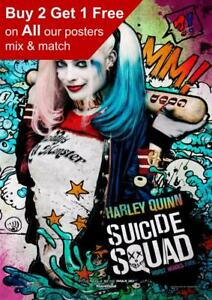 BUY 2 GET ANY 2 FREE HARLEY QUINN SUICIDE SQUAD POSTER ART PRINT A4 A3