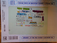 Microscale Decal N  #60-1320 Limited Edition Graffiti Sheet Volume 3