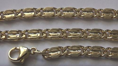5//000 milliemes dorado tanques pulsera tanques fußkette S-tanques cadena 4,5mm br