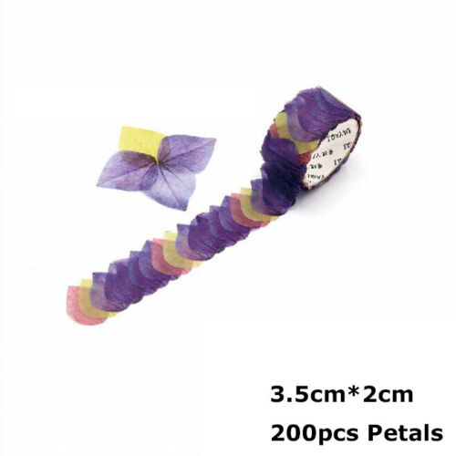200PCS//Roll Flower Petals Tape Masking Scrapbook Sticker Sticky Paper Craft Tape