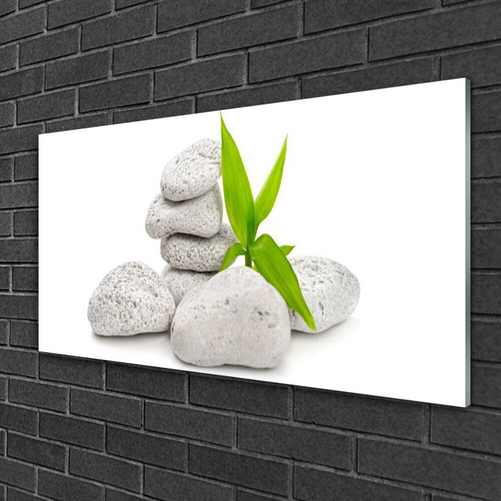 Image sur verre acrylique Tableau Impression 100x50 Nature Pierres