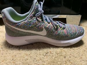 0aaed599f4e7c New Nike Men s Lunarepic Low Flyknit 2 Size 10 Cool Grey White ...