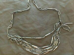 Perline COLOR ARGENTO ANTICATO Cintura taglia ca. 45 centimetri