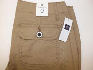 Gap Womens 1 Regular Pants Khaki Tan Brown Stretch Flat Front Flap Pockets Clothing, Shoes & Accessories