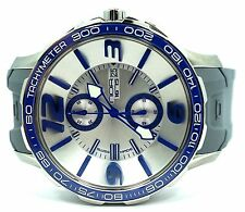 New Men's NOA Stainless Steel Chronograph 44mm Date Quartz Watch G EVO-003 $1800