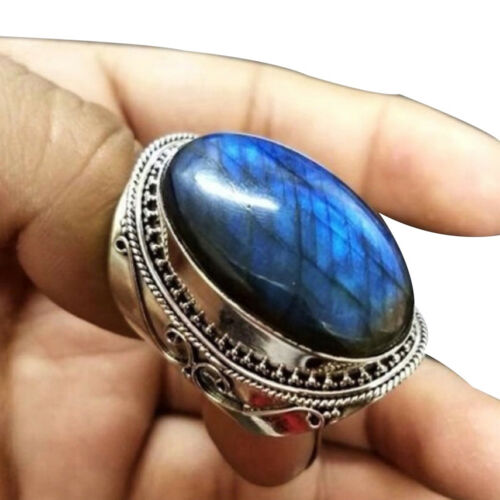 UK/_ EE/_ MEN FAUX TURQUOISE INLAID FINGER RING ENGAGEMENT PARTY JEWELRY XMAS GIFT