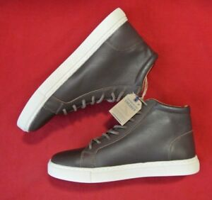 Details about New American Eagle Outfitters Men's Brown Leather High Top Lace Up Boots Size 9