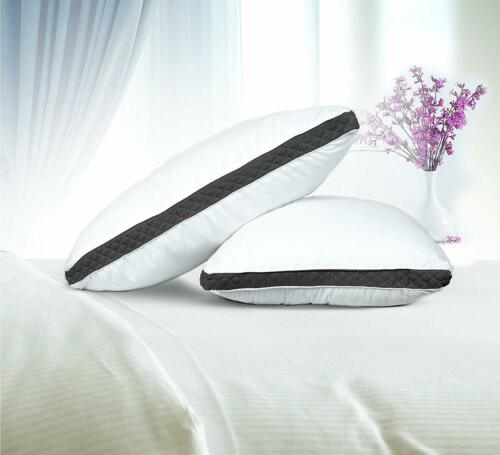 Gusseted Quilted Bed Pillows Set of 2 Neck Support Side /& Back Sleepers Pillows