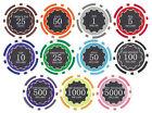 NEW 1000 PC Eclipse 14 Gram Clay Denomination Poker Chips Bulk Lot Custom