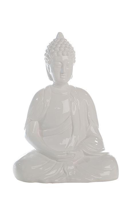46629 Bouddha Spirit Céramique Blanc VERNISSEE-européenne fabrication-hauteur 35 cm