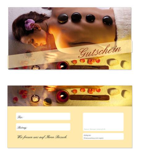 100 x Geschenkgutscheine TOP Gutscheine für Wellness Massagen uvm Wellness-602