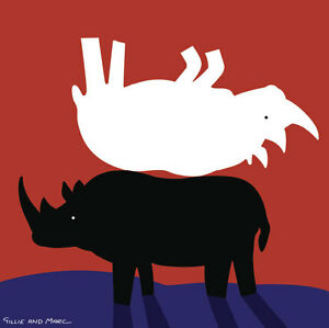 GILLIE-AND-MARC-direct-from-the-artists-authentic-Rhino-Art-print-Africa-love