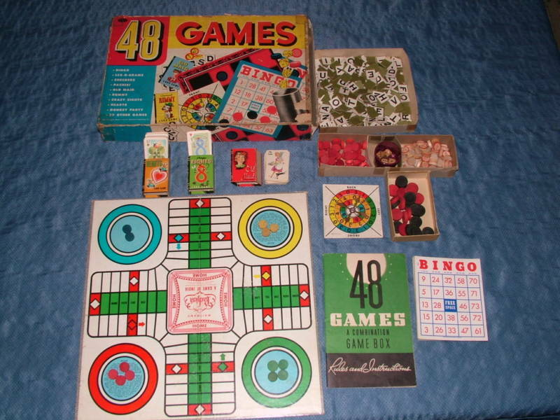 VINTAGE 1938 TOY GAME WHITMAN 48 GAMES