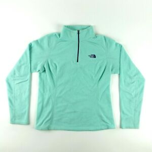 40e5ff405 Details about The North Face Women Size M Half Zip Fleece Pullover Sweater  Jacket Turquoise
