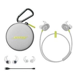 Bose soundsport ® Bluetooth Inalámbrico In-Ear Auriculares Audífonos Citron Reino Unido Stock