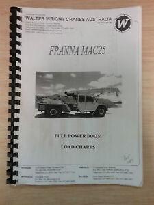 crane franna mac25 full power boom load charts manual catalog ebay rh ebay com au franna crane operator manual Franna Crane Clip Art