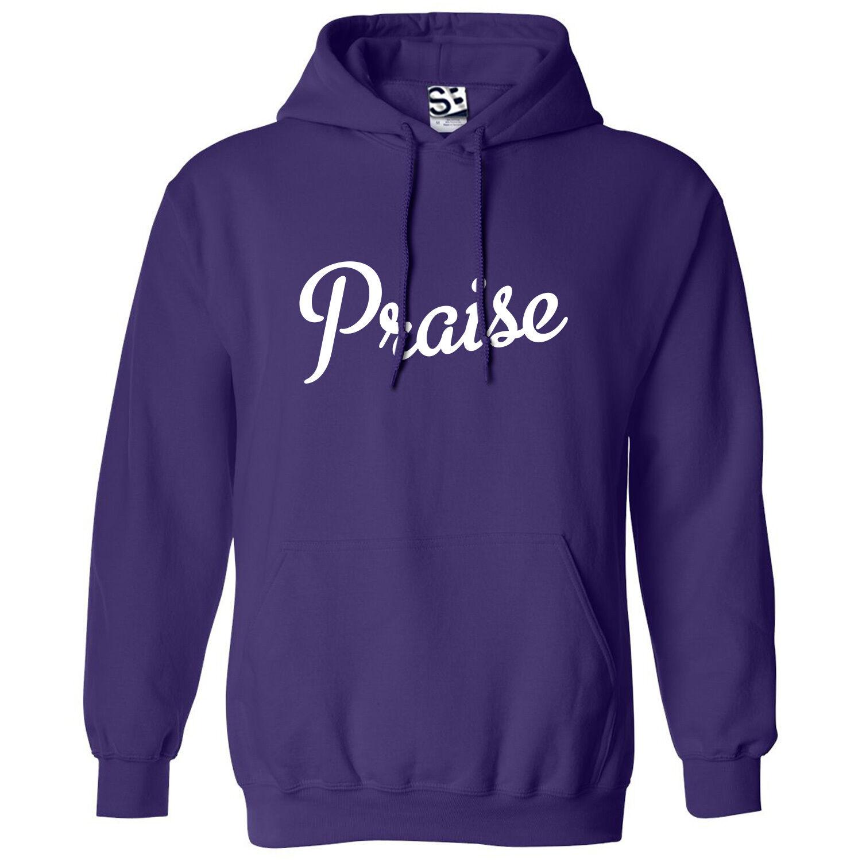 Praise Kingpin HOODIE - Hooded Jesus God Worship Script Sweatshirt - All Farbes