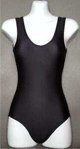 Girls-Leotards-Ladies-Black-Lycra-Sleeveless-Ballet-Dance-swimsuit-AA