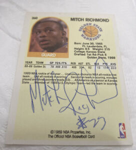 1989 Hoops Mitch Signed Autographed Richmond Rookie #260 Warriors HOF 💥