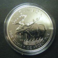 2012 Canada $5 Moose Wild Life series 1oz .9999 Fine Silver Bullion Coin round