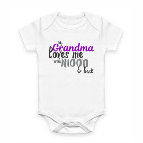 Cute Baby Clothes Romper with print My Grandma Love me to the Moon & Back