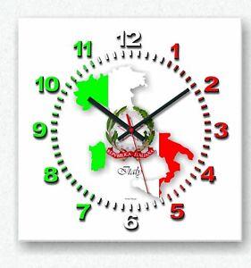Details zu Design Handarbeit Italien Italy Funk Wanduhr Pizzeria Wanddeko  Wohnzimmer Uhr