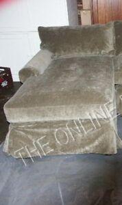 Pottery Barn Basic Sofa Sectional Slipcover Left Arm Chaise Sage