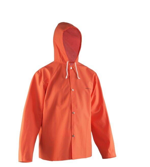 Grundens Nordan Jacket Orange raincoat Ölzeug Friesennerz Regenjacke rubber