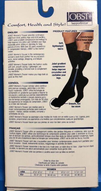 e1e8bfe2a JOBST Women s Trouser Mild Compression Knee High Socks 115350 Black Medium  for sale online