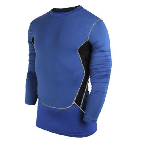 Herren Kompressionsshirt Langarm T-Shirt Funktionsshirt Gym Fitness Training Top
