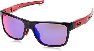 a93cf423e9a Oakley Men s Sunglasses Crossrange (Asian Fit) Black Ink Prizm Road ...