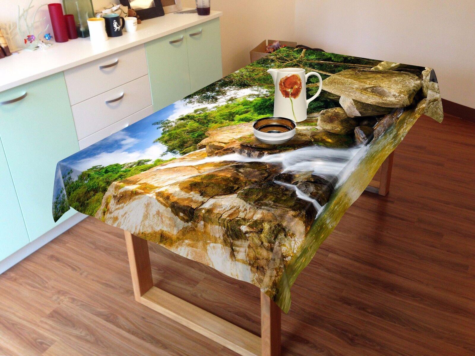 3D Mount Lake 5 Nappe Table Cover Cloth fête d'anniversaire AJ papier peint Royaume-Uni Citron