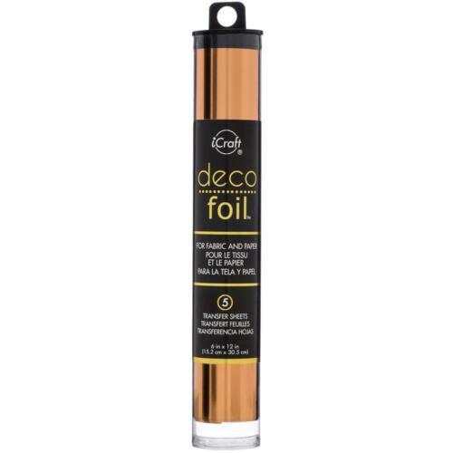 """DecoFoil Foil Transfer Sheets 6/"""" x 12/"""" x 5 Per Pack Multiple Colours"""