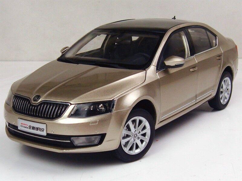 1/18 Shanghai Volkswagen Skoda All new Octavia 2014 oro Diecast Model